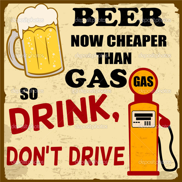 Beer Cheaper Than Gas Classical Custom Fashion FREE SHIPPING Movie Comic Poster Printed Size(50x75)cm Wall Sticker(China (Mainland))