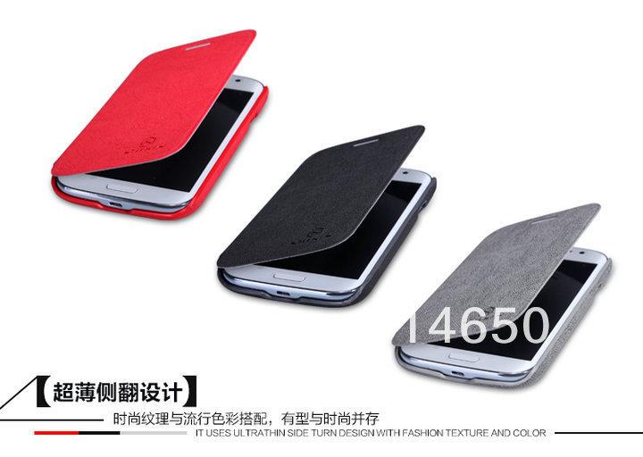 Здесь можно купить  5pcs/lot Free shipping nillkin super cool leather flip side cover case for Galaxy Grand DUOS with free screen Protector +package  Телефоны и Телекоммуникации