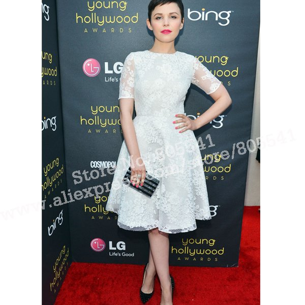 elegant discount sophia bush a line short sleeve lace