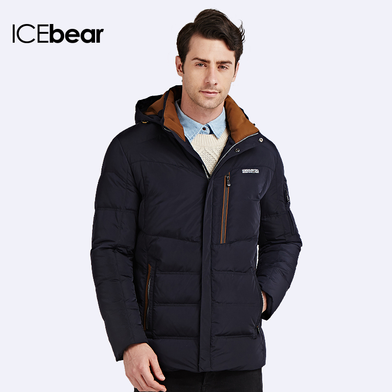 ICEbear 2016 90% White Duck Down New Thickening Winter Jacket Men Fashion Casual Handsome Warm Parka Coat 16M662D(China (Mainland))