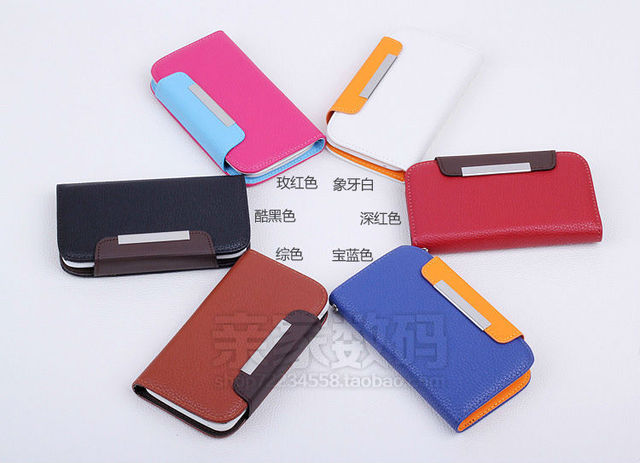 Universal PU leather phone cases for 4.3-4.7 inch smartphone Mobile Phone Bags & Cases, xiaomi cases, S3 Siii i9300, mi2s, S4 S5