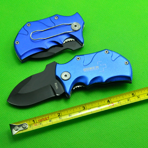 2pcs/lot, OEM Boker Plus Folding Gift Pocket Case Knife 420 Steel Knife blue handle Camping Knife Free Shipping(China (Mainland))