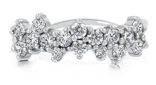 STERLING SILVER 925 CZ FASHION RIGHT HAND RING NEW SZ 8 7.(China (Mainland))