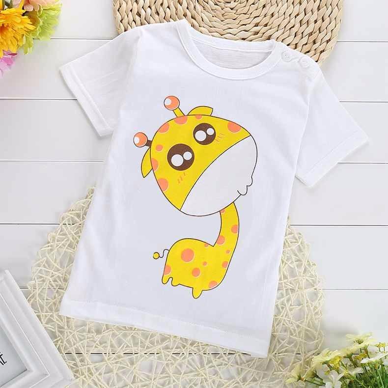 FHADST Hot Sale Cartoon 100% Cotton Short Sleeve Kids Girls T-shirts 2017 Fashion Children Girls Tshirts Baby Girls Clothes
