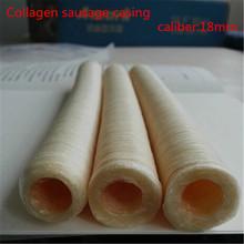 4pcs/Lot halal sausage casing total 42meters Diameter 18mm artificial sausage Collagen casing free shipping(China (Mainland))