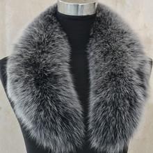 2016 Real Fox Fur Collar Women 100% Natural Fox Fur Scarf Winter Warm Fur Collar Scarves Design For Lady Long L#35(China (Mainland))