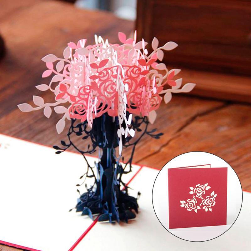 Flowerpot Diy 3d Pop Up Laser Cut Origami Paper Crafts Arts Birthday