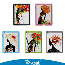 Smart Cover Case Sublimation Case For Apple ipad 2/3/4 Cover Smart Cover Case Flip Leather Stand Cases(China (Mainland))