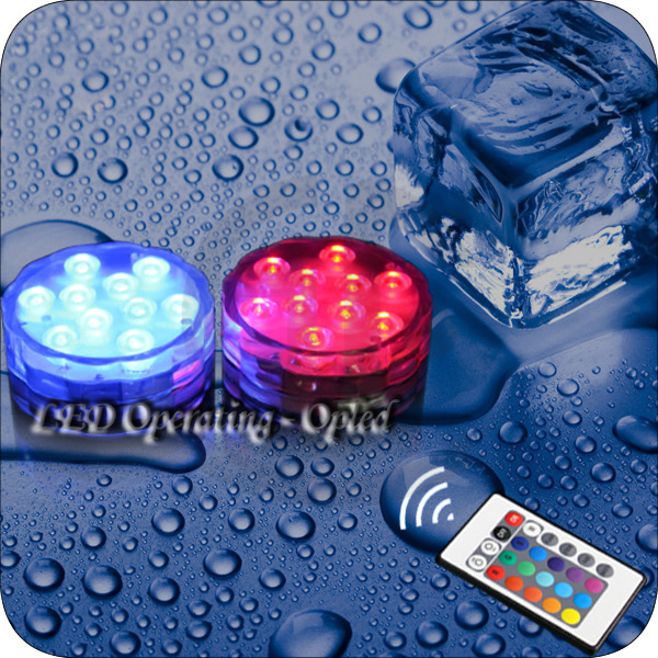 Mini UFO Underwater led aquarium light, very bright RGB Remote Control+Waterproof led light for aquarium tank,can decorate house(China (Mainland))