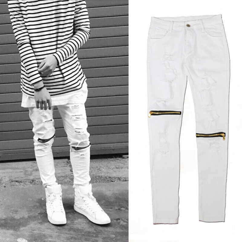 White Skinny Jeans Mens Photo Album - Reikian