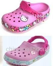girl hello kitty princess clogs sandal infant junior youth children casual beach travel garden student cartoon slipper size31234(China (Mainland))