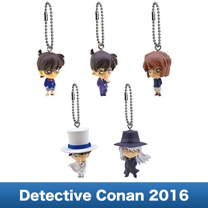 Case Closed Detective Conan Swing Strap 2016 Complete Set 5pcs font b Figure b font Gashapon