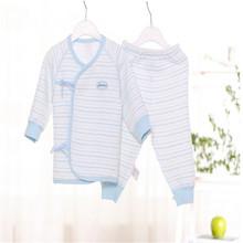 High quality 100% Natural organic cotton Newborn Baby Boys/girls Kids pajamas set Children Home Sleepwear tracksuit Tshirt&Pant(China (Mainland))