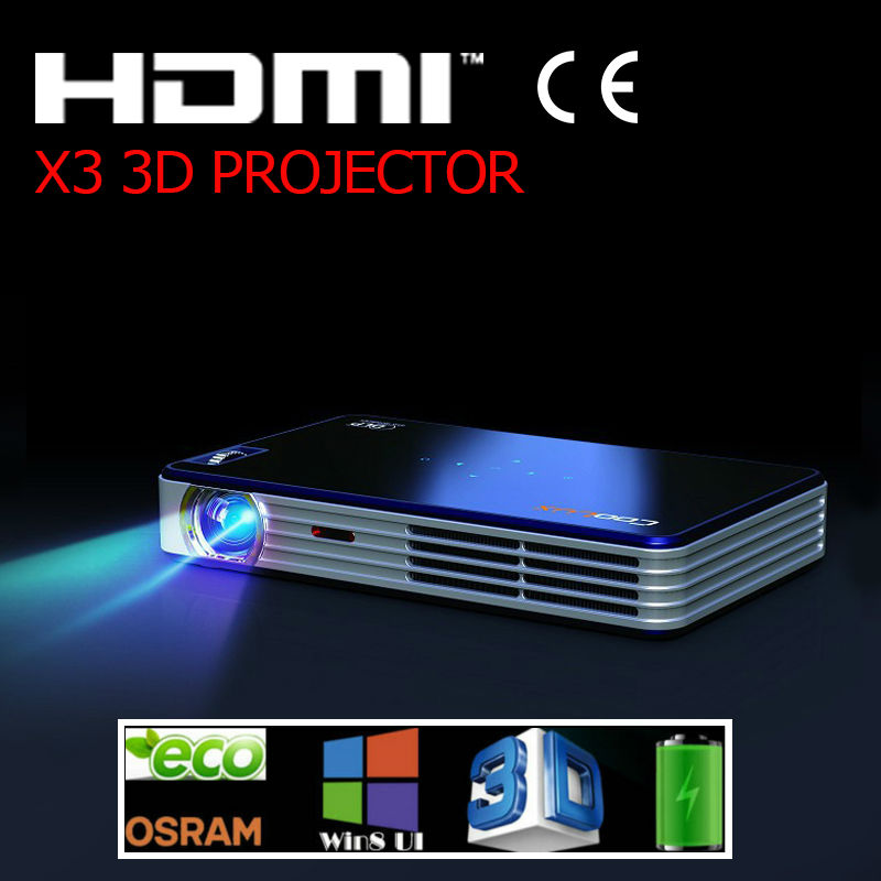 Free Shipping Coolux X3  projecter  Full 3D  LED DLP Pico Proyector Blue 690lm 5000:1 1080P Beamer Proyector TV Home Theater