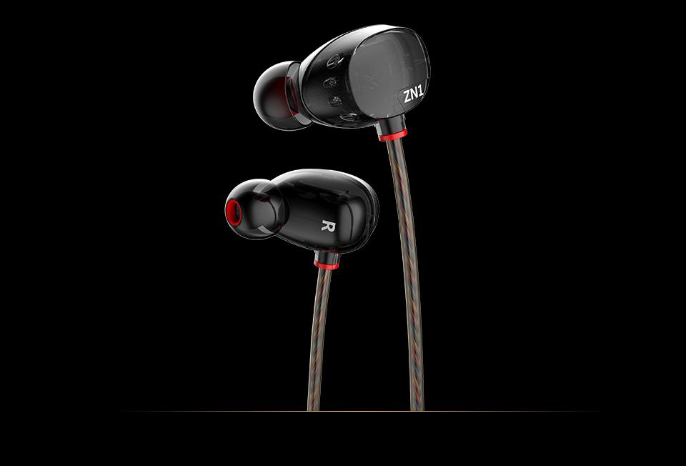 KZ ZN1 mini Dual Driver Headphones Extra Bass Turbo Wide Sound Field In-ear Earphone
