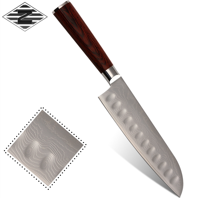 z kitchen damascus knife cutting tools stainless 9cr18mov