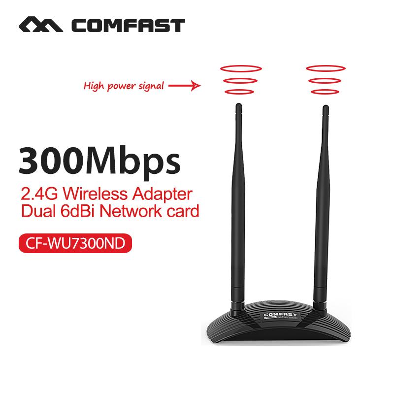 300Mbps wifi adapter dongle computer usb network card long range wifi usb antenna for WindowsXP/7 /8/10Vista Linux Ralink RT3072(China (Mainland))