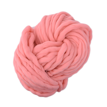 Hot 20 Colors Soft Wool Roving Bulky Thick Big Yarn Spinning Hand Knitting Thread Crochet Yarn for Hat Scarf Knitting Drop ship(China (Mainland))