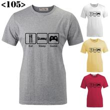 Best Sell Funny Eat Sleep Game Design Pattern Printed Short Sleeves T-Shirt Women's Girl's Graphic Tee Tops T shirts