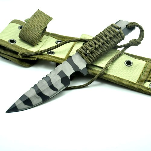 Buy Hot High Quality Tactical Knife Fixed Blade camouflage Sheath Camping Hunting Knife Survival Knives cheap