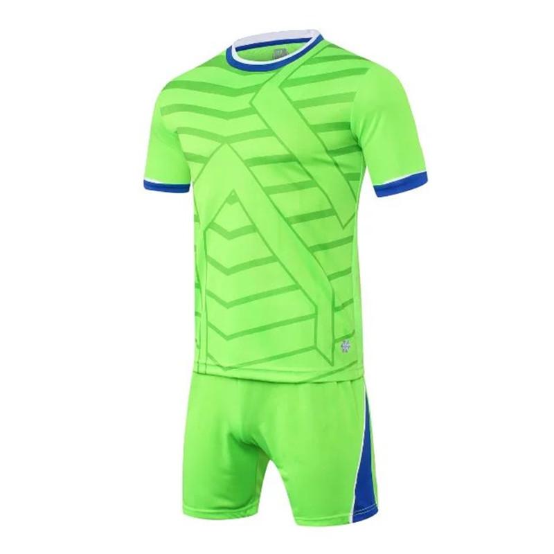 2017 new blank DIY men survetement football jerseys sets mesh breathable soccer team training suits quick dry uniforms design XL(China (Mainland))