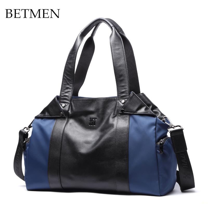 High Quality Mens Canvas Leather Multi-function Handbag Oblique Shoulder Bag Outspot High-capacity Travel Bag<br><br>Aliexpress