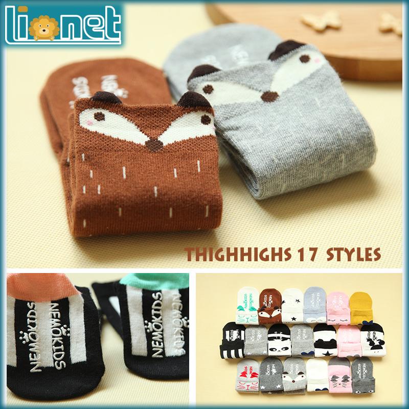 Cartoon Animal 3D Non-slip Silicone Toddler Socks Cotton High Knee   Kids Socks Christmas Winter Warm Girls Long Socks