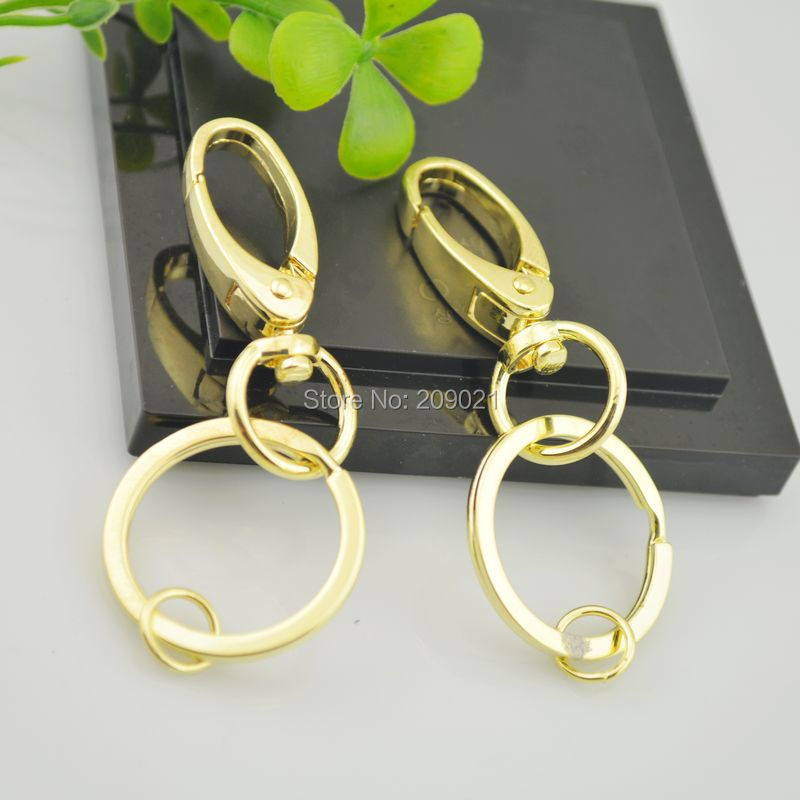 Wholesale DIY 50Sets Gold Plated Lobster Clasps Swivel Trigger Clips Snap Hooks Bag Key Ring Jewelry Making<br><br>Aliexpress