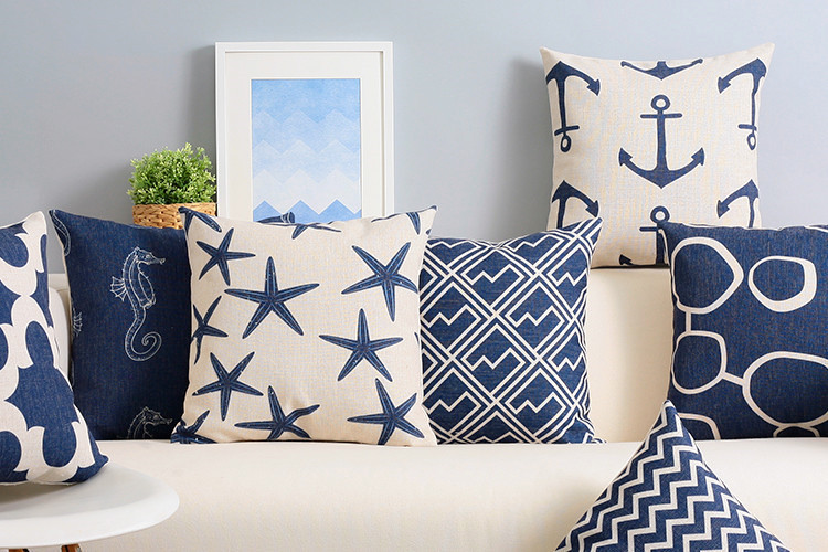 achetez en gros coussins bleu marine en ligne des grossistes coussins bleu marine chinois. Black Bedroom Furniture Sets. Home Design Ideas