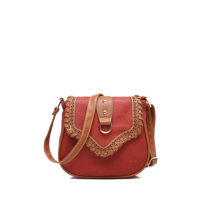 2016 Fashion Small Vintage Saddle Celebrity Messenger Bags Women PU Leather Handbags Ladies Shoulder Crossbody Bag Bolsas bac01(China (Mainland))