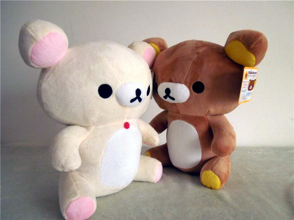 Free shipping relax bear soft stuffed toy Rilakkuma plush doll 30cm size 2cs/lot soft gift factory supply(China (Mainland))