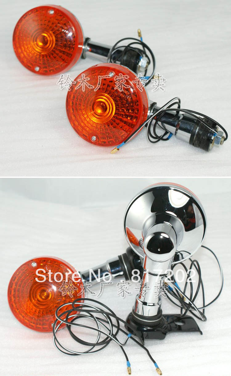 FREE SHIPPING Suzuki GN250 GN 250 Turn Signals / Indicator Lights Winker Blinker FRONT & REAR 4pcs