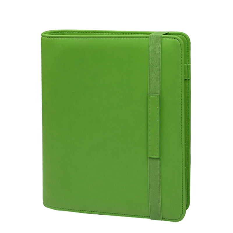 New Green PU Leather File Holder Office Accessories School Supply File Cover Leather Padfolio High Quality Filing Products<br><br>Aliexpress