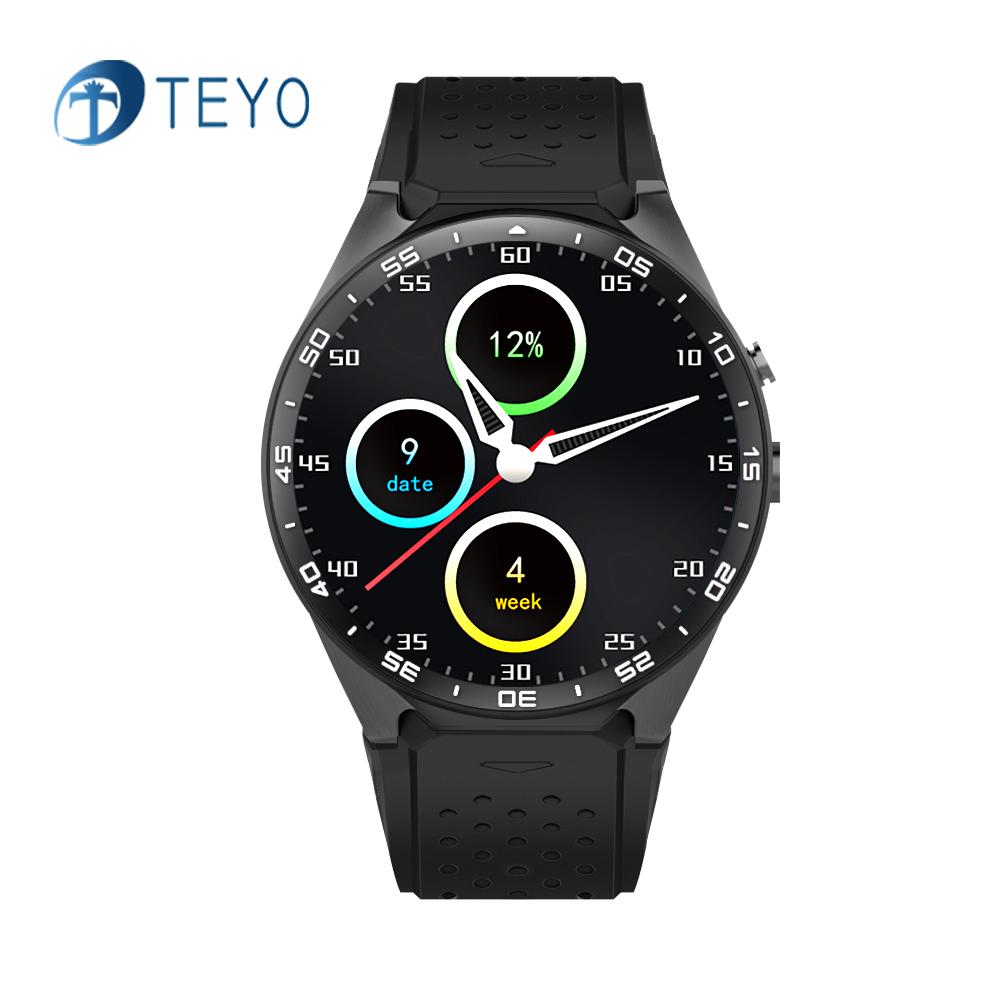 Teyo Smart Watch KW88 Heart Rate Monitor Pedometer Music ROM 4GB + RAM 512MB Camera SIM GPS Wifi Smat Watch Android IOS