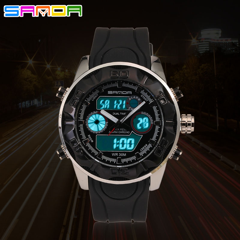 2016 SANTA male Military Watches Sports, Fashion Brand Casual Clock Watch Digital Male Hot Offer(China (Mainland))