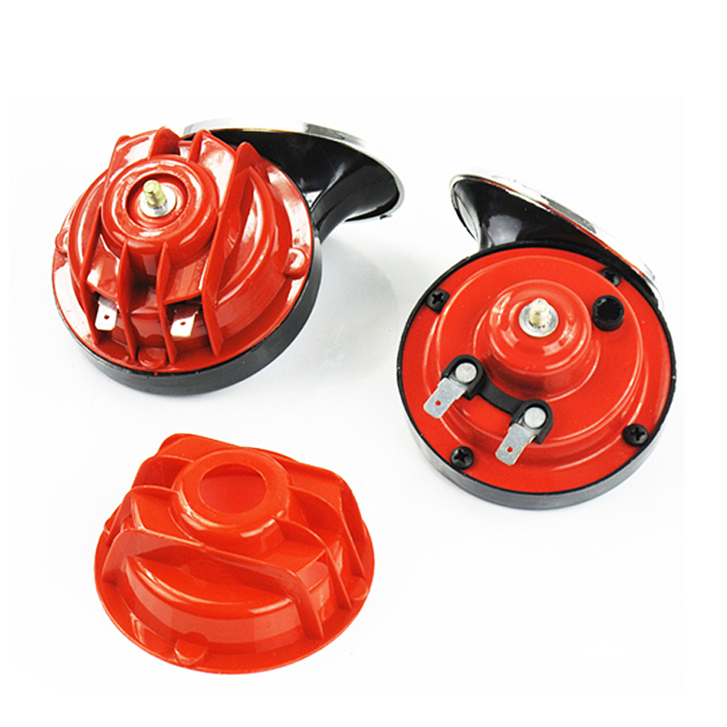 12v universal auto snail horn belt relay waterproof whistle horn car speakers with four piece waterproof covers(China (Mainland))