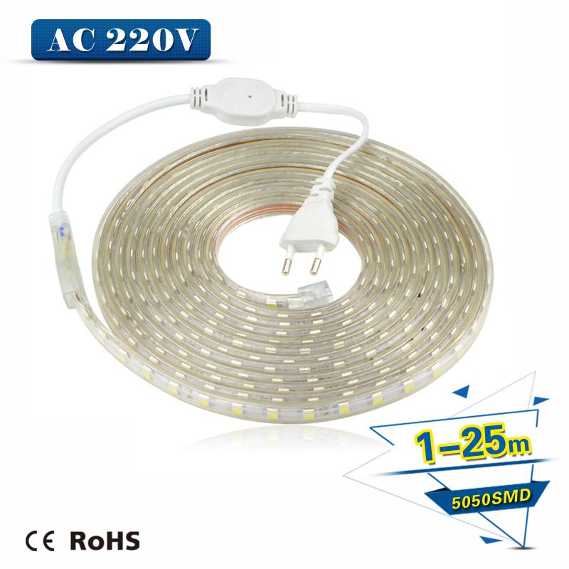 Christmas Holiday Wedding Party Decoration Festi LED Silicone Tube Strip light 5050 SMD+ EU Power Plug String Lights Lamps(China (Mainland))