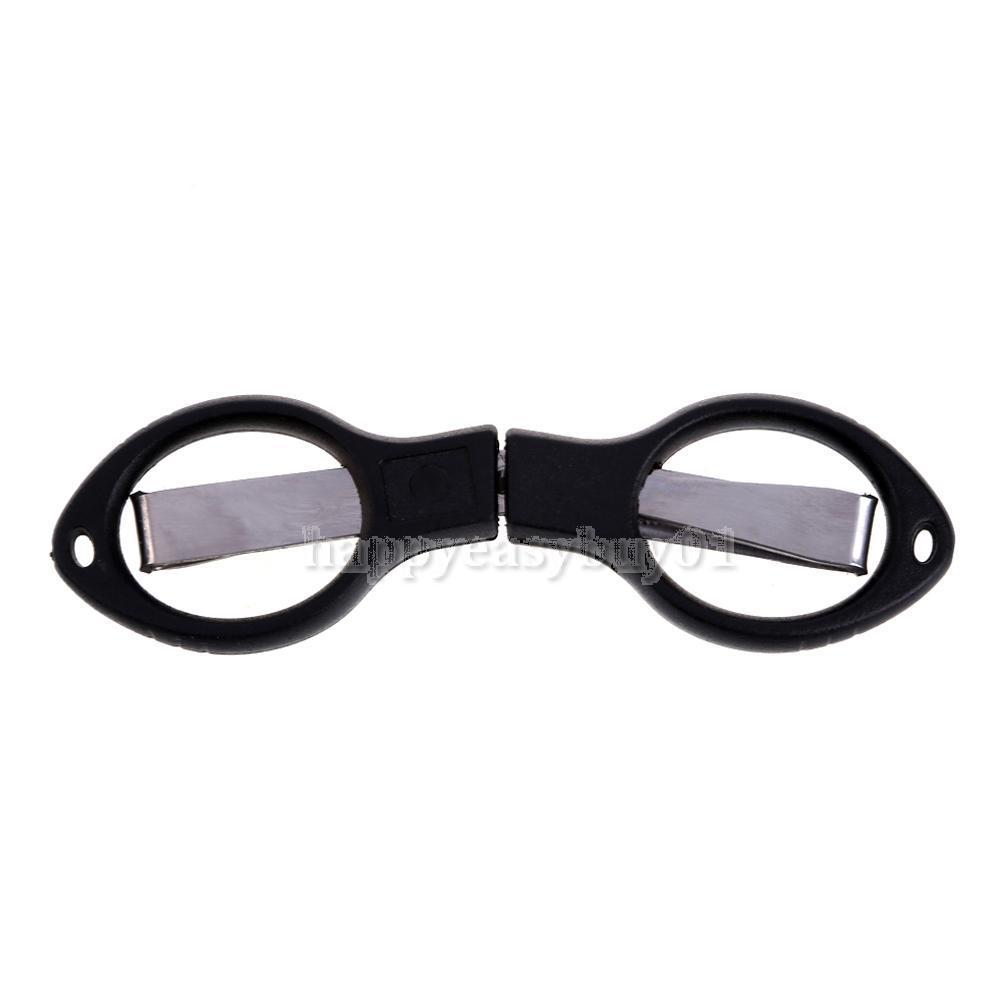 Mini Stainless Steel Foldable Black Fishing Scissors Line Cutter Tool H1E1