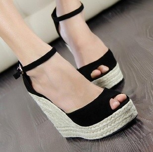 Superior Qality Summer style comfortable Bohemian Wedges Women sandals for Lady shoes high platform open toe flip flops Plus(China (Mainland))