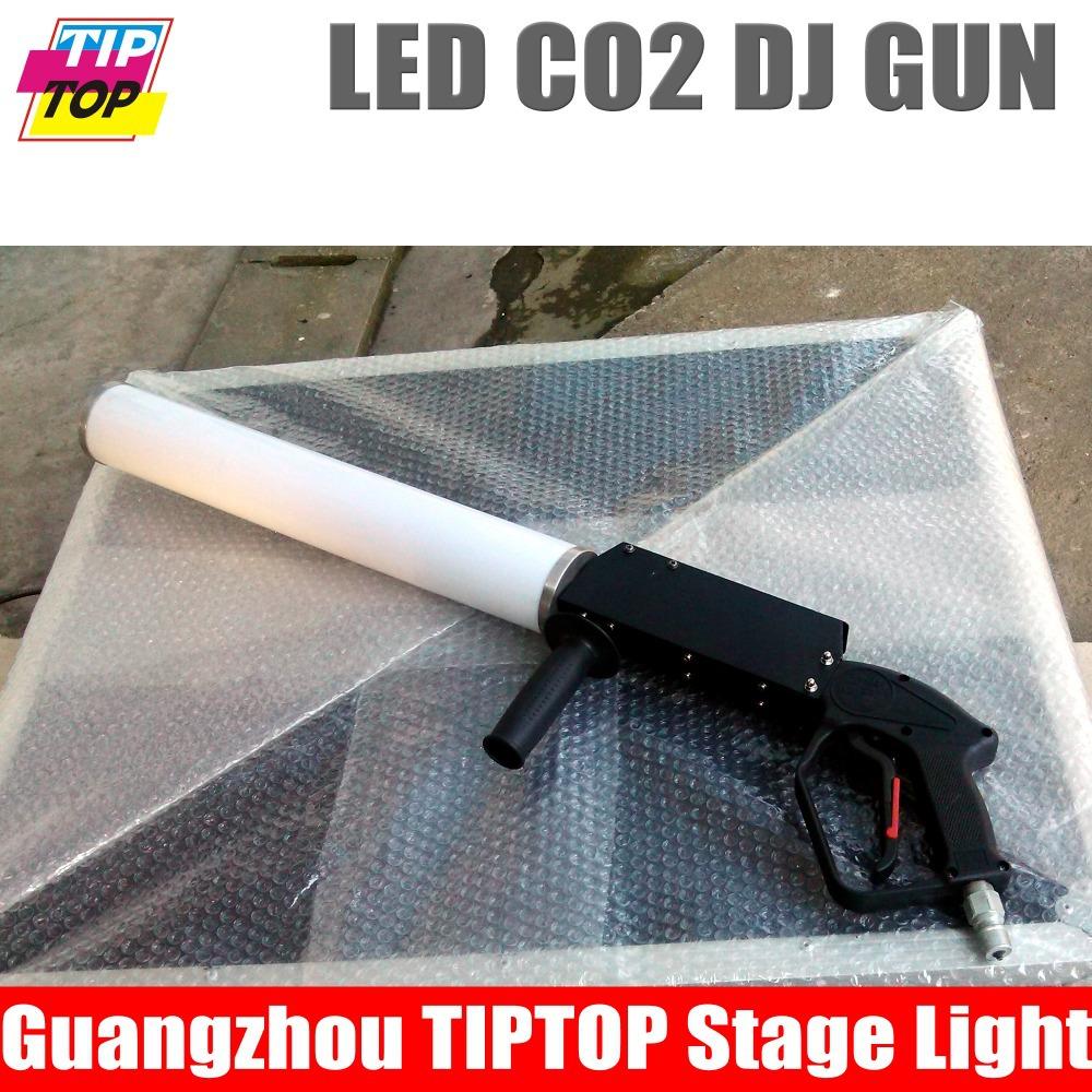 Hi Quality 1XLOT Led Co2 Gun Professional Led Co2 Gun,Cryo Gun,Cryo JET,CO2 Gun American DJ LED CO2 PARTY CANNON SET(China (Mainland))