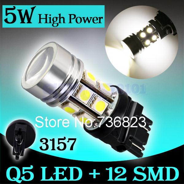 10pcs 3156 3157 led High Power 12 SMD 5050 5W Stop Bulb Lamp p27/7w led car bulbs brake Lights Car Light Source parking 12V(China (Mainland))