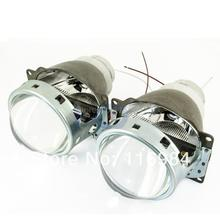 2pcs x HID Bi-xenon Double Q5 D2H Unscathed Installation Headlight Projector Lens Kit For H4 Bulb Angel Eye(China (Mainland))