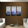 3 piece modern abstract canvas wall art handmade purple decorative oil painting on canvas for home