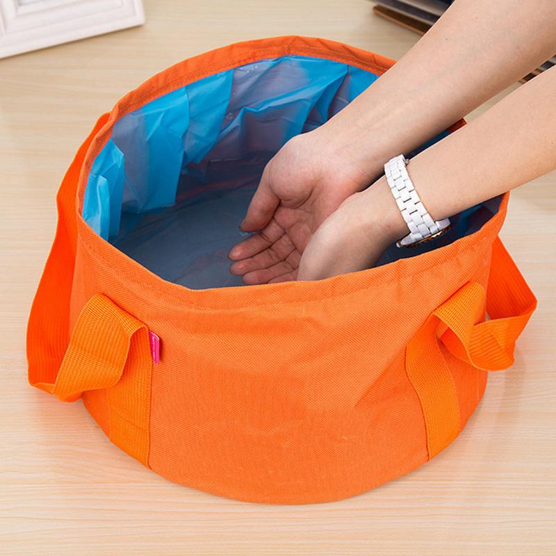 Hot Sale 15L Outdoor Hiking Camping Foldable Waterproof Washing Basin Bucket Portable Water Pot(China (Mainland))