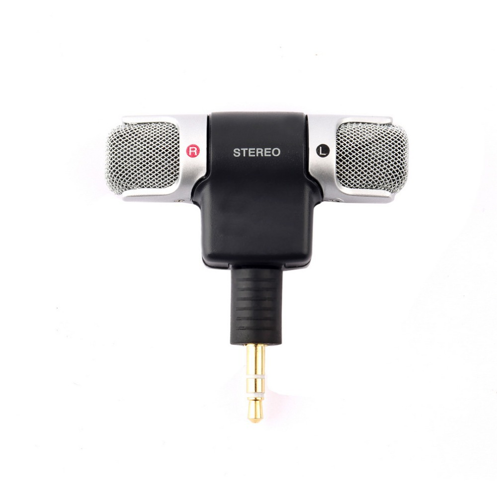 High Quality 3.5MM Portable ECM-DS70p NEW Electret Condenser Stereo Mini Microphone for Sony Laptop Smart Phone Free shipping(China (Mainland))