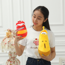 22-32cm Beautiful orchids larva Korea joke worms yellow little red smelly fart insect plush toys for Birthday Gifts 2pcs/lot