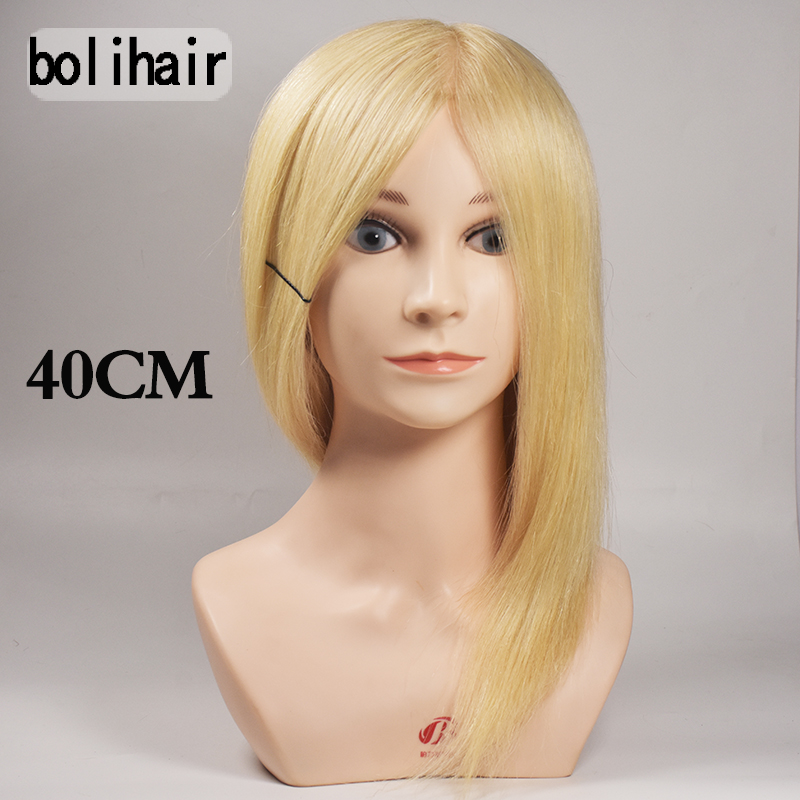 New Arrival!!High Quality Female Cosmetology Mannequin Training heads Makeup Blonde Real Human Hair Practice Manikin Head Bust