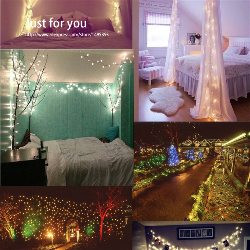 10M 33FT 100leds 3 AA Battery Powered Decoration LED Copper Wire Fairy Waterproof String Lights for Christmas Holiday(China (Mainland))
