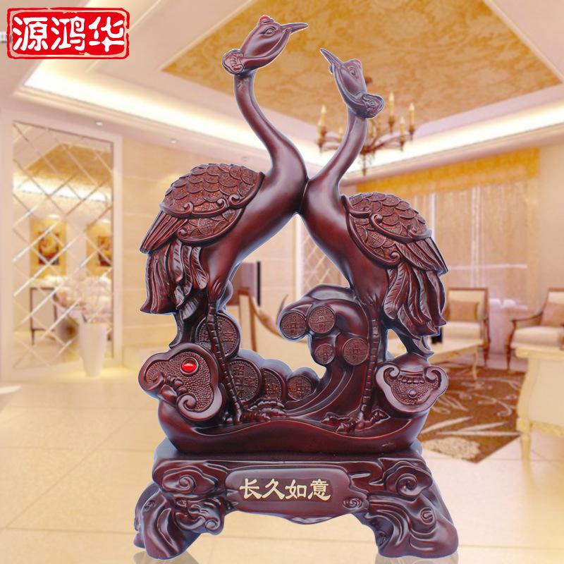 Source Honghua Ruyi long crane business craft ornaments wedding gifts resin crafts ornaments furnishings(China (Mainland))