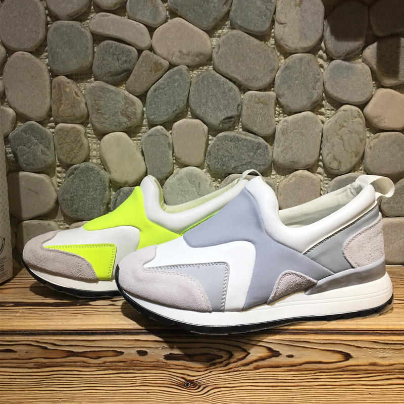 Фотография High Quality 2016 Spring Summer Sports Shoes Women Platform Shoes Fashion spell color shoes Womens comfortable sneakers 085
